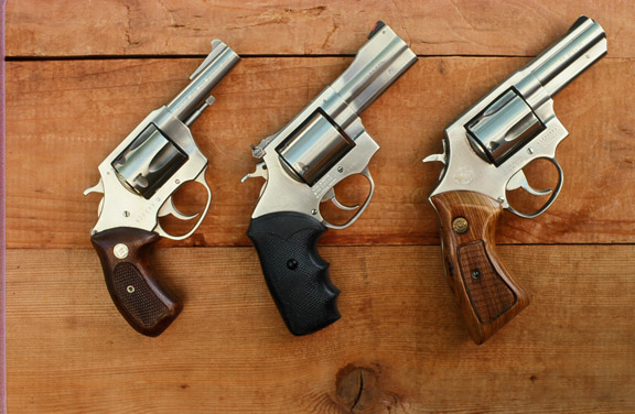 Five-shot double action .44 Specials: the CharterBulldog, the Rossi